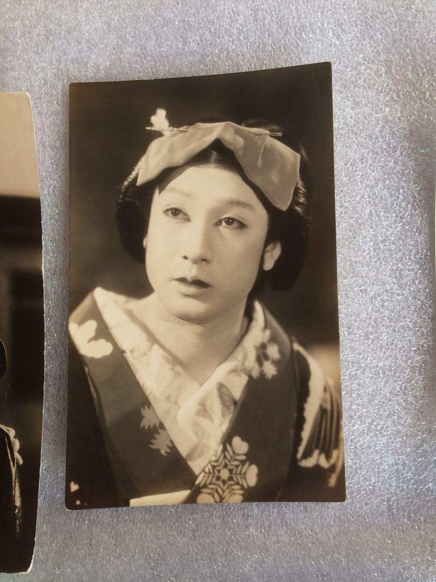 古写真1 昭和レトロ 映画スター 銀幕スター 古いブロマイド 6枚_画像3