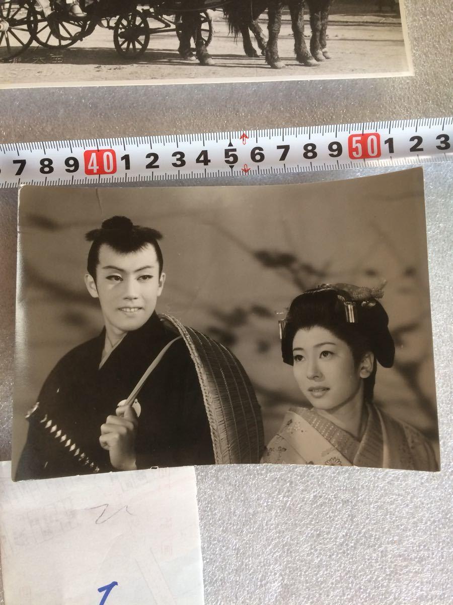 古写真1 昭和レトロ 映画スター 銀幕スター 古いブロマイド 6枚_画像7