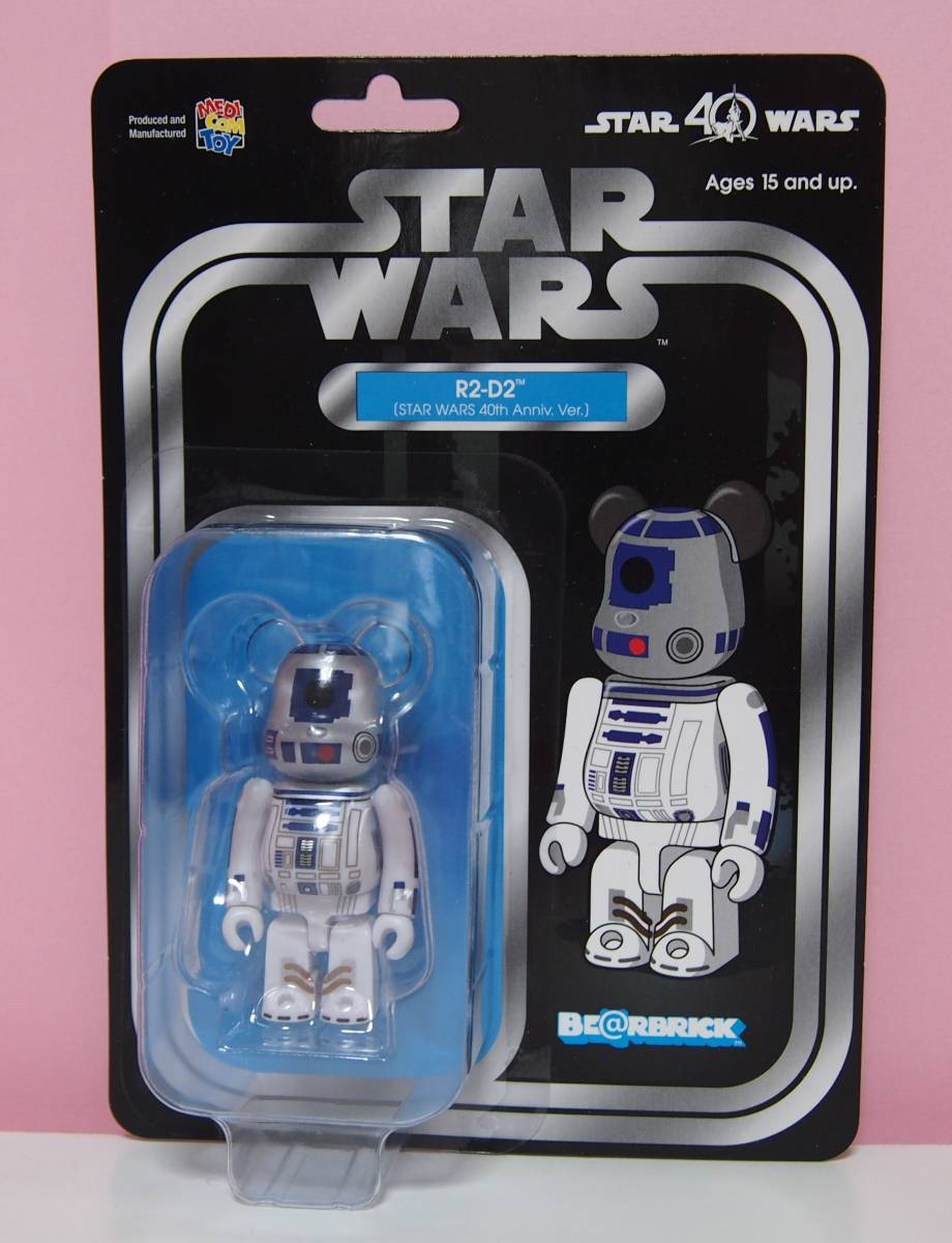 ベアブリック ★ BE@RBRICK スターウォーズ star wars R2-D2 (STAR WARS 40th Anniv. ver.) 100%_画像1