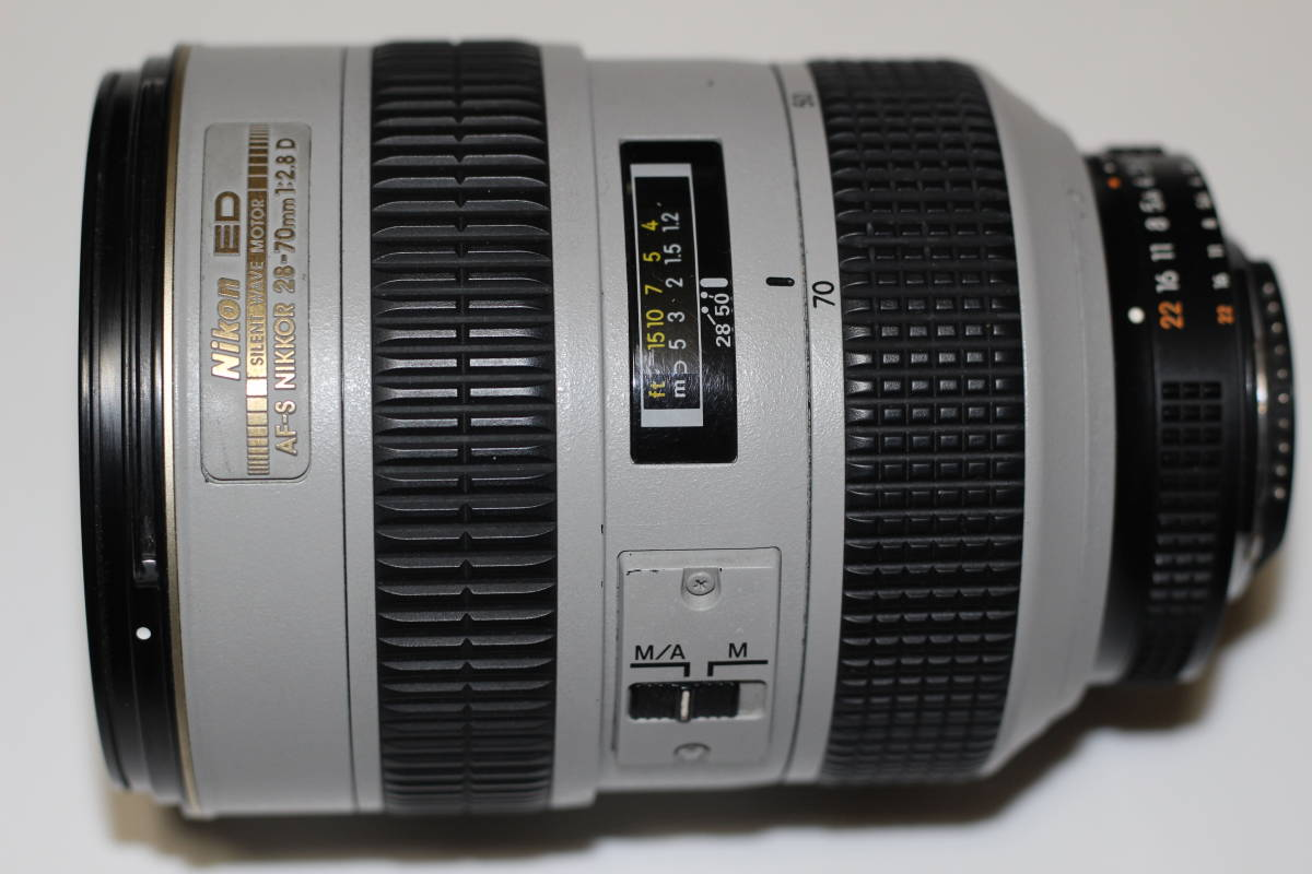 ニコン NIKON ED AF-S NIKKOR 28-70mm 1:2.8D 白レンズ 中古品