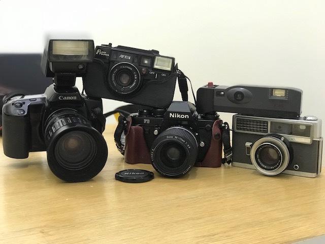 ★カメラまとめ★ Nikon F3 Zoom 1:3.5 minolta HI-MATIC Polaroid Pocket Canon EOS 10QD 300EZ FUJICA AF 1:2.8 フィルムカメラ ストロボ