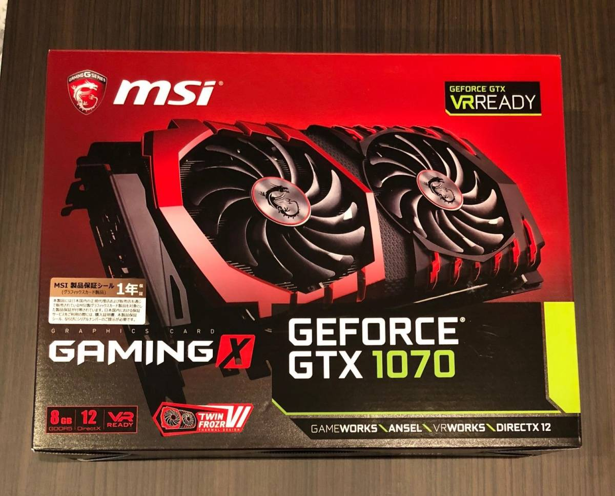 GTX 1070 8 GB MSI GAMING X GeForce