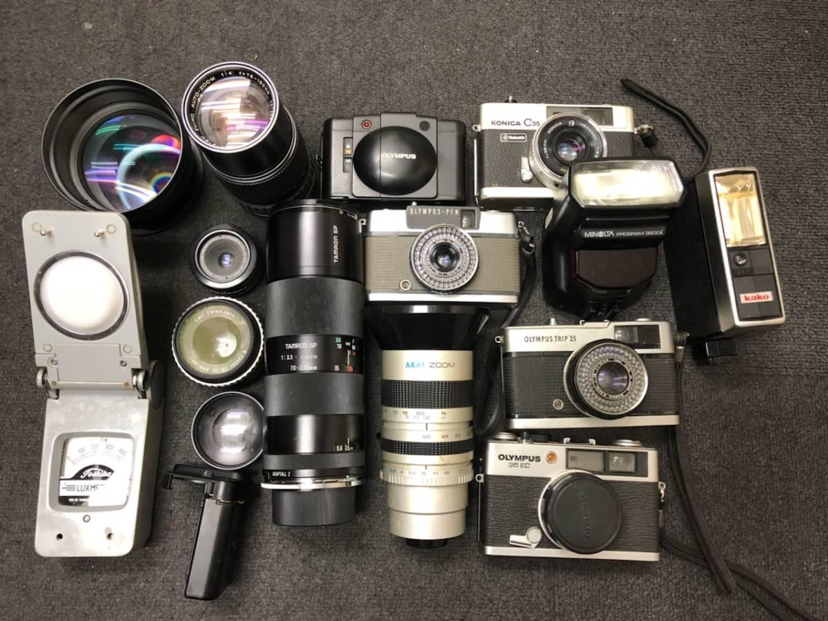 カメラ レンズ おまとめ カメラ5点 レンズ4点 OLYMPUS KONICA PEN C35