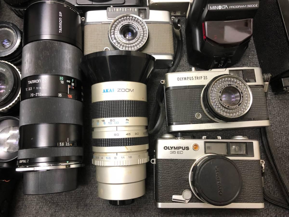 カメラ レンズ おまとめ カメラ5点 レンズ4点 OLYMPUS KONICA PEN C35 _画像2
