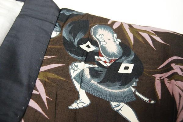 きものさらさ アンティーク 雀踊り 奴踊り ヴィンテージ 男襦袢 正絹 _画像8