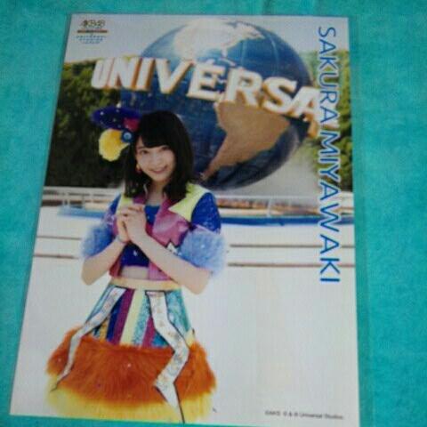 【宮脇咲良】C 2枚まとめ やり過ぎ!サマー at USJ A4特大生写真 AKB48 GROUP選抜 ユニバーサル・スタジオ・ジャパン ランダム生写真