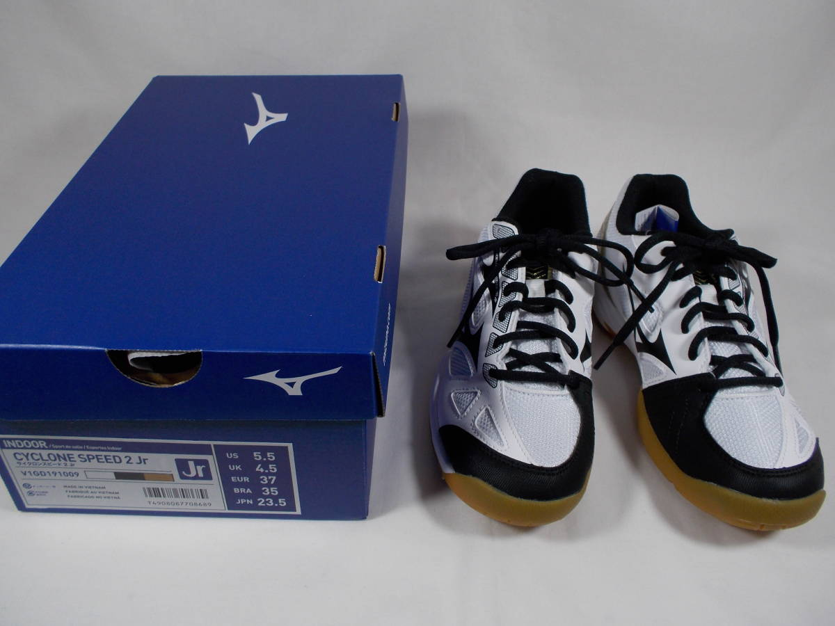 913532be56ed Mizuno Cyclone Speed 2(23.5cm) Junior volleyball shoes white × black × gold