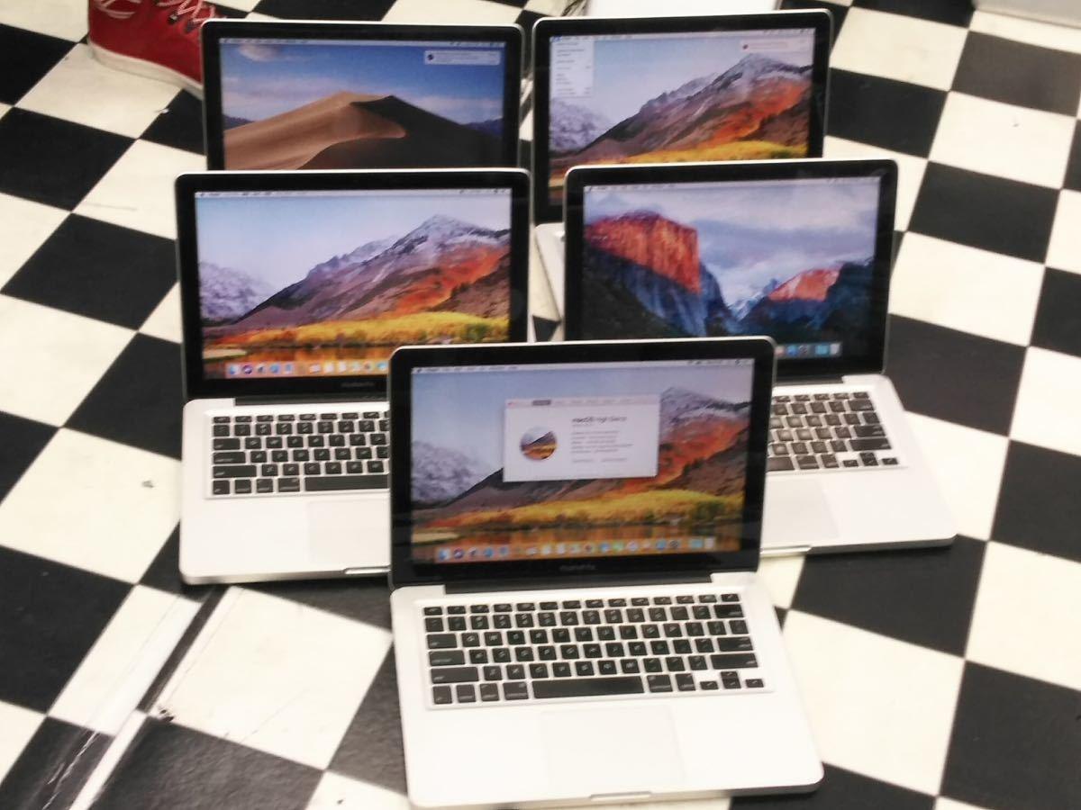 MacBookPro 13inch mid2012 i5-2.5GHz 4GB/500GB OSインストール済み5台まとめて出品