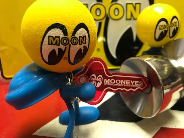 MOONEYES スピードキーリング  ムーンアイズ レッド 検索用→ムーンアイズ アンテナトッパー ユノカル76 _画像1
