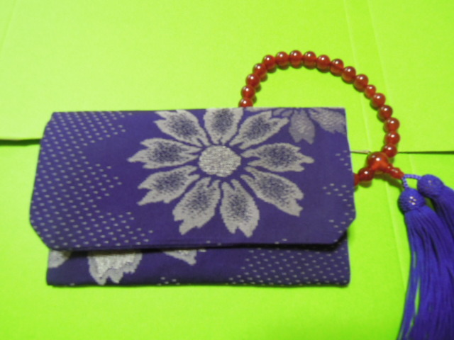 for women beads inserting (.. inserting ) purple color ground * stylish silver color. floral print * silk ground * handmade *