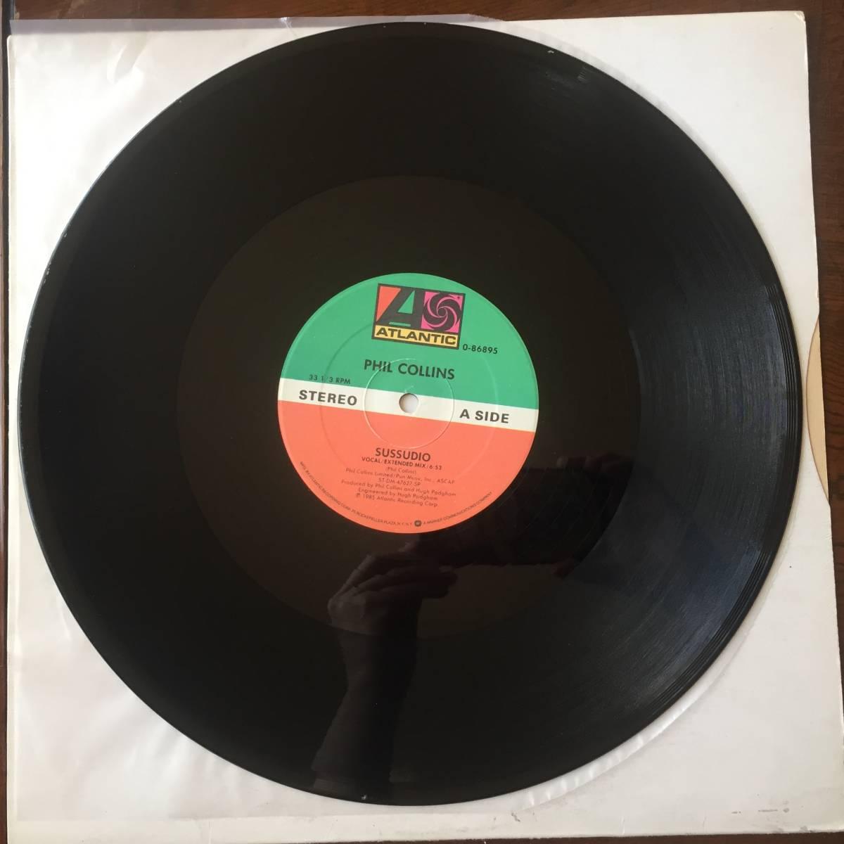 【送料無料】181002〇LP 12 Phil Collins - Sussudio THE MAN WITH THE HORN / フィルコリンズ / Atlantic - 0-86895 / 1985年 ユーロ POP_画像3
