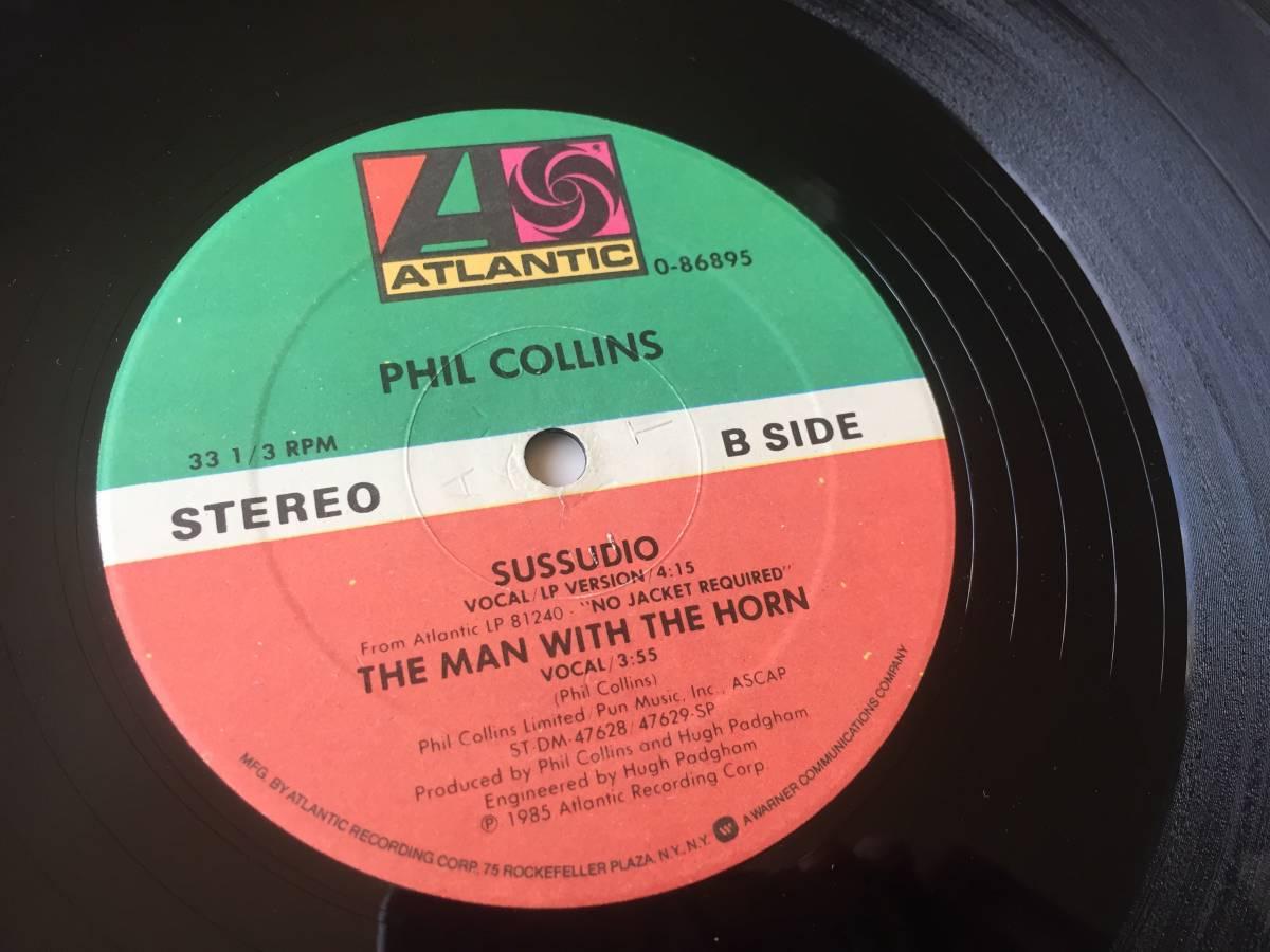 【送料無料】181002〇LP 12 Phil Collins - Sussudio THE MAN WITH THE HORN / フィルコリンズ / Atlantic - 0-86895 / 1985年 ユーロ POP_画像5