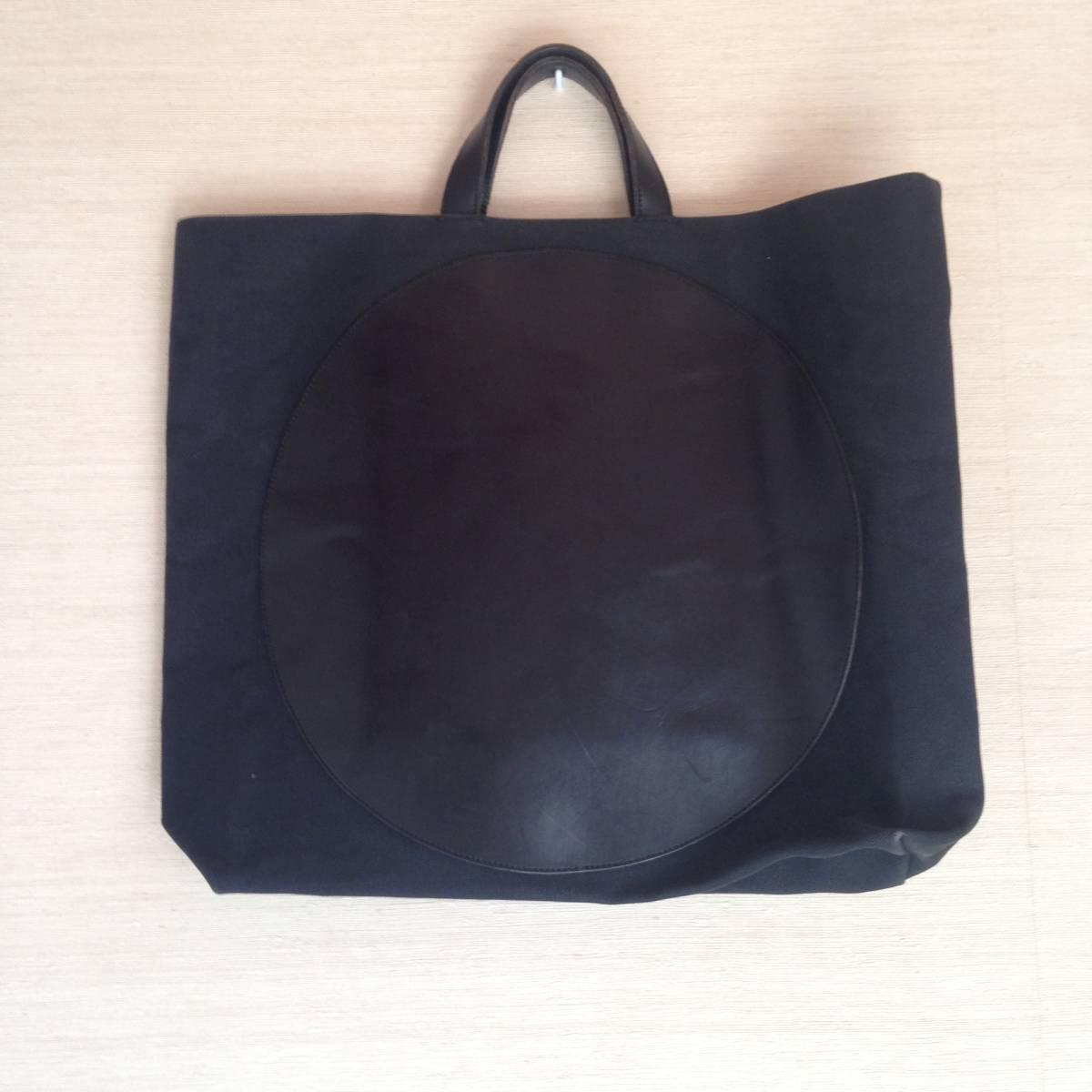 江面旨美トートバッグ 一点物 帆布に牛革 ギャルソン・arts&science・45R・ヨーガンレール好きな方