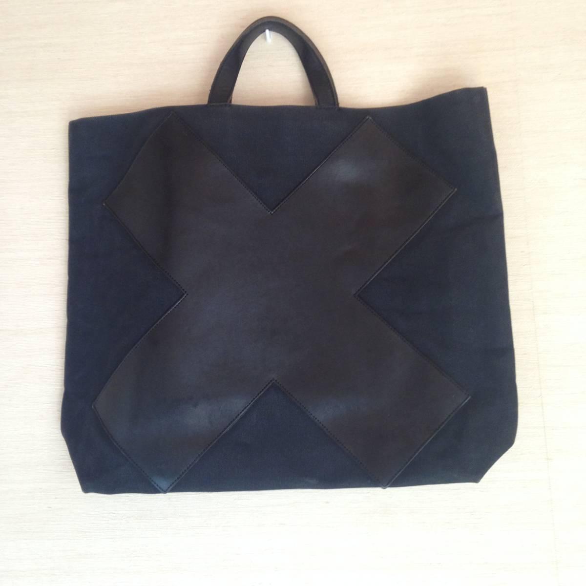 江面旨美トートバッグ 一点物 帆布に牛革 ギャルソン・arts&science・45R・ヨーガンレール好きな方_画像2