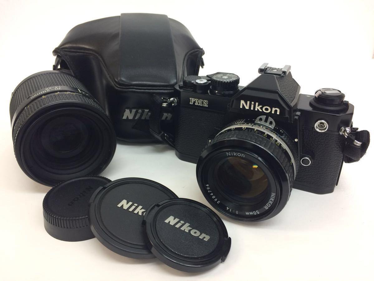 カメラ NIKON (ニコン) FM2 レンズ NIKKOR 50mm 1:1.4 / AF 70-210mm 1:4-5.6 ケース付き reref-d 1017