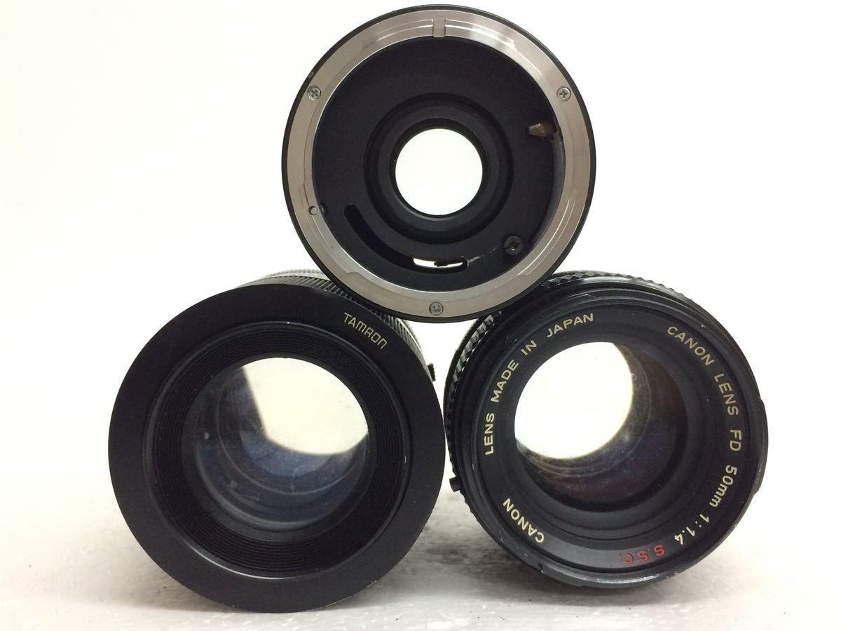 カメラ Canon (キャノン) A-1 レンズ ZOOM FD 35-70mm/50mm TAMRON 90mm テレプラス MC7 reref-d 1022_画像8