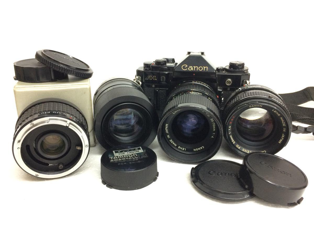 カメラ Canon (キャノン) A-1 レンズ ZOOM FD 35-70mm/50mm TAMRON 90mm テレプラス MC7 reref-d 1022