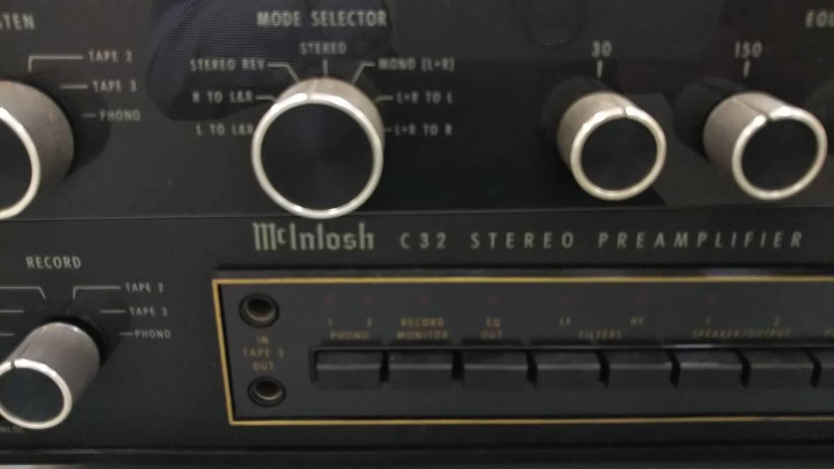 マッキントッシュ McIntosh C32 プリアンプ 電源OK ジャンク_画像7