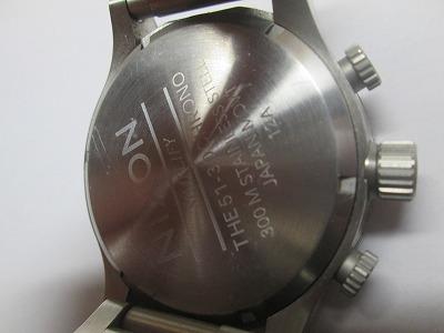 ニクソン 51-30 クロノ 銀・紺 メンズ 腕時計 動品 良品_画像2