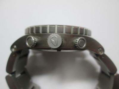 ニクソン 51-30 クロノ 銀・紺 メンズ 腕時計 動品 良品_画像3