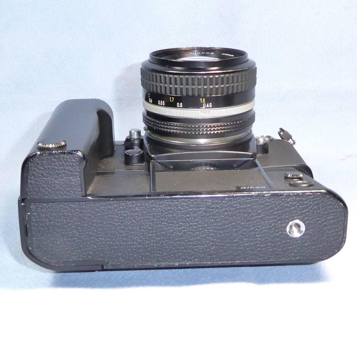 ★  綺麗  諸動作快調  ★   NIKON    F 3  HP   +   MD - 4   +   NIKKOR   50mm/F1.4   +  NIKON ストラップ _画像6