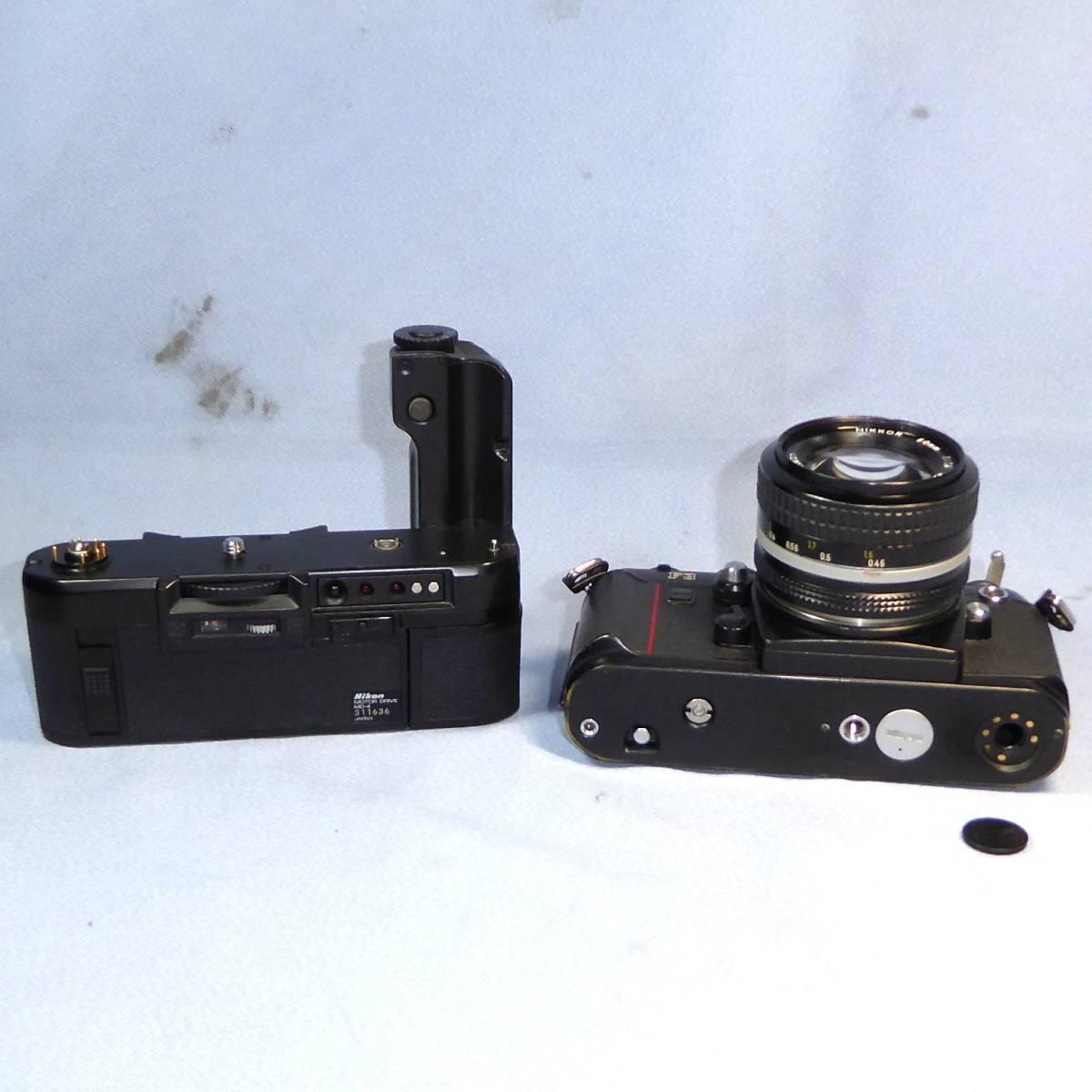 ★  綺麗  諸動作快調  ★   NIKON    F 3  HP   +   MD - 4   +   NIKKOR   50mm/F1.4   +  NIKON ストラップ _画像8