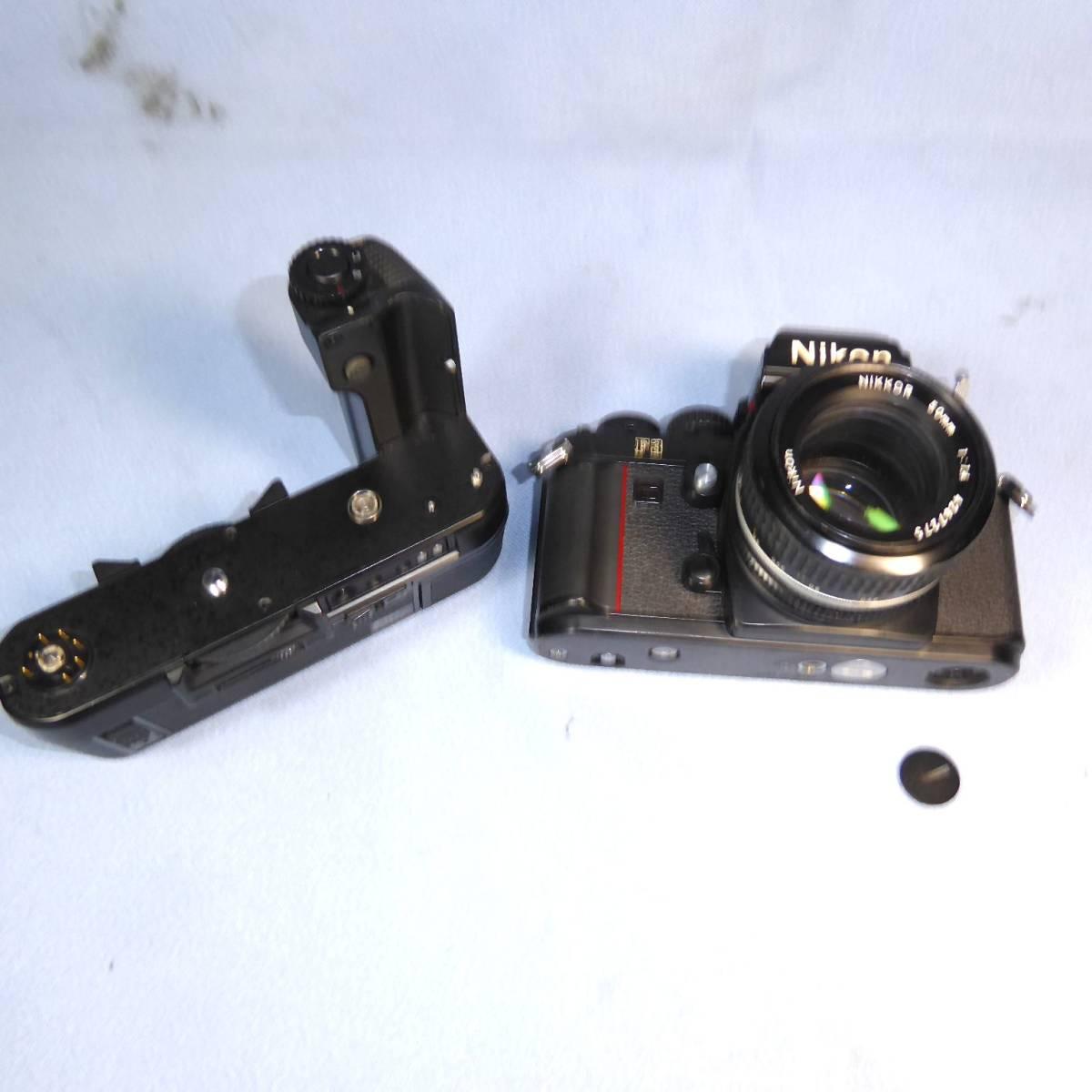 ★  綺麗  諸動作快調  ★   NIKON    F 3  HP   +   MD - 4   +   NIKKOR   50mm/F1.4   +  NIKON ストラップ _画像9
