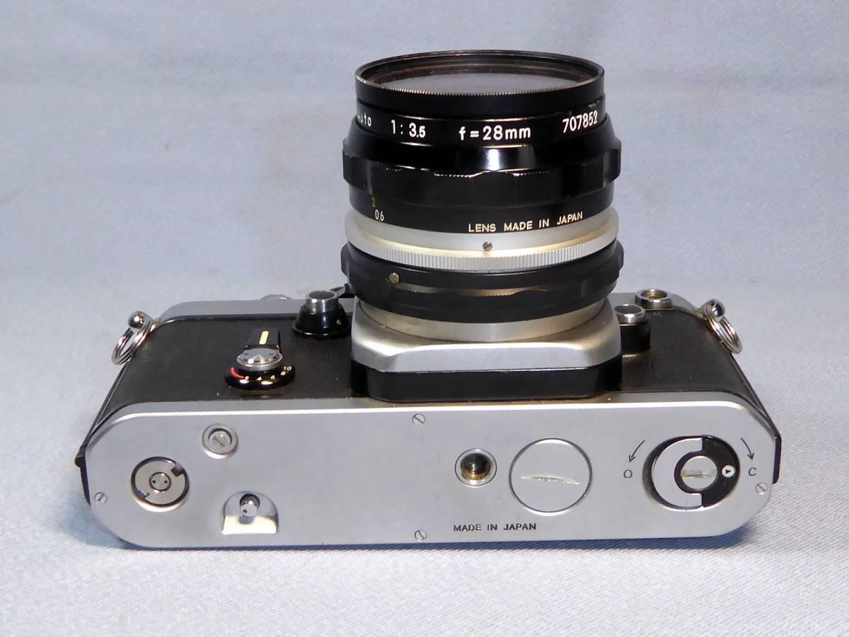 ★  綺麗  メーターOK   ★  NIKON    F 2   +  フォトミック  AS   +    NIKKOR-H  Auto   28mm/F3.5_画像6