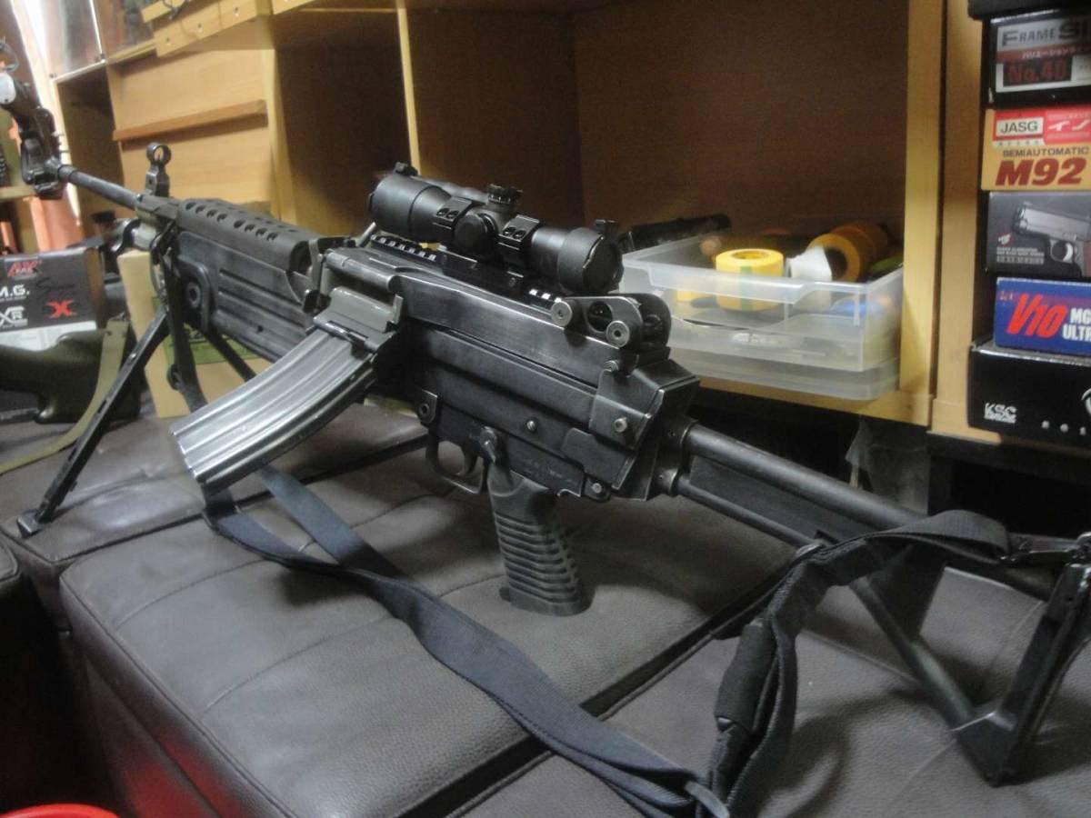 ガスブロ ミニミ M249 絶版! 希少! Gカンパニー製 調整済み 動作快調 専用マガジン2本付き 上級者向き minimi_画像7