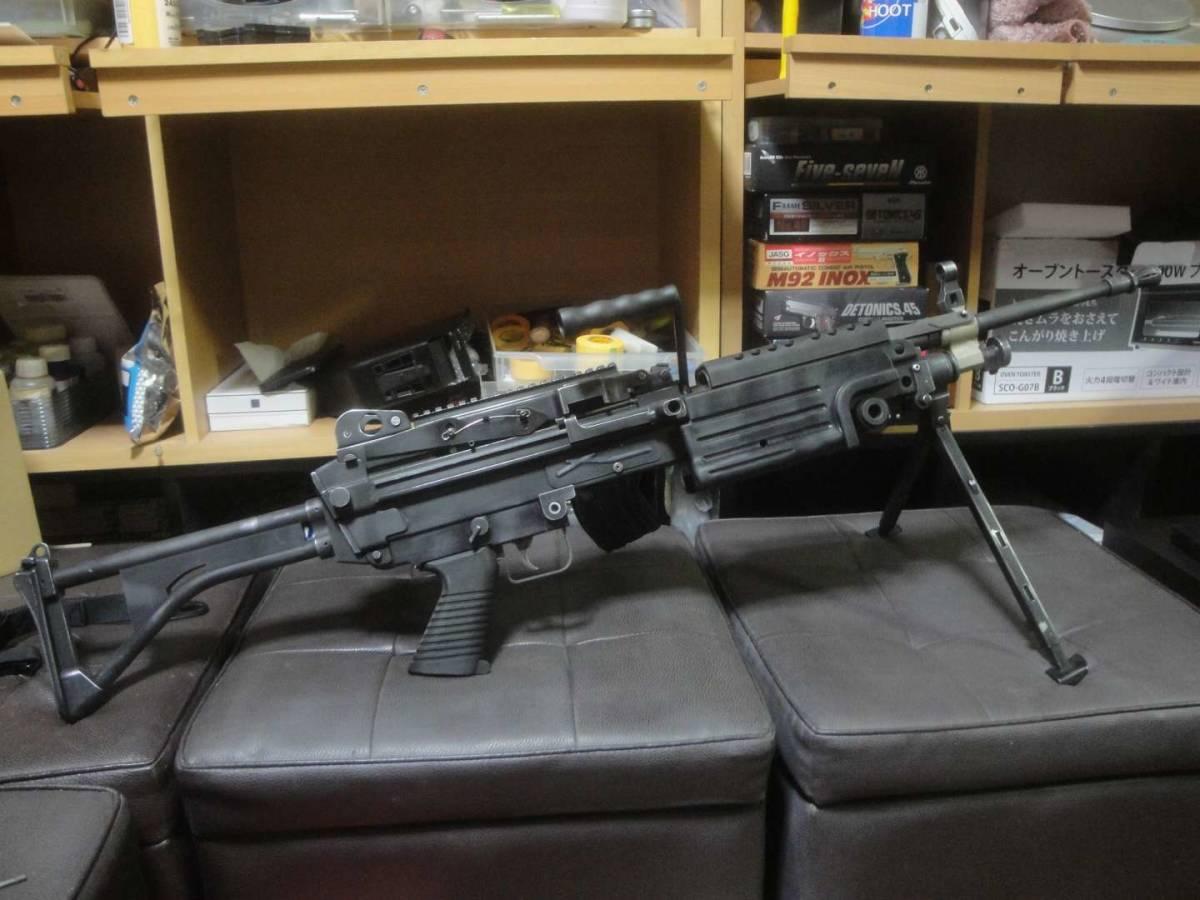 ガスブロ ミニミ M249 絶版! 希少! Gカンパニー製 調整済み 動作快調 専用マガジン2本付き 上級者向き minimi_画像10