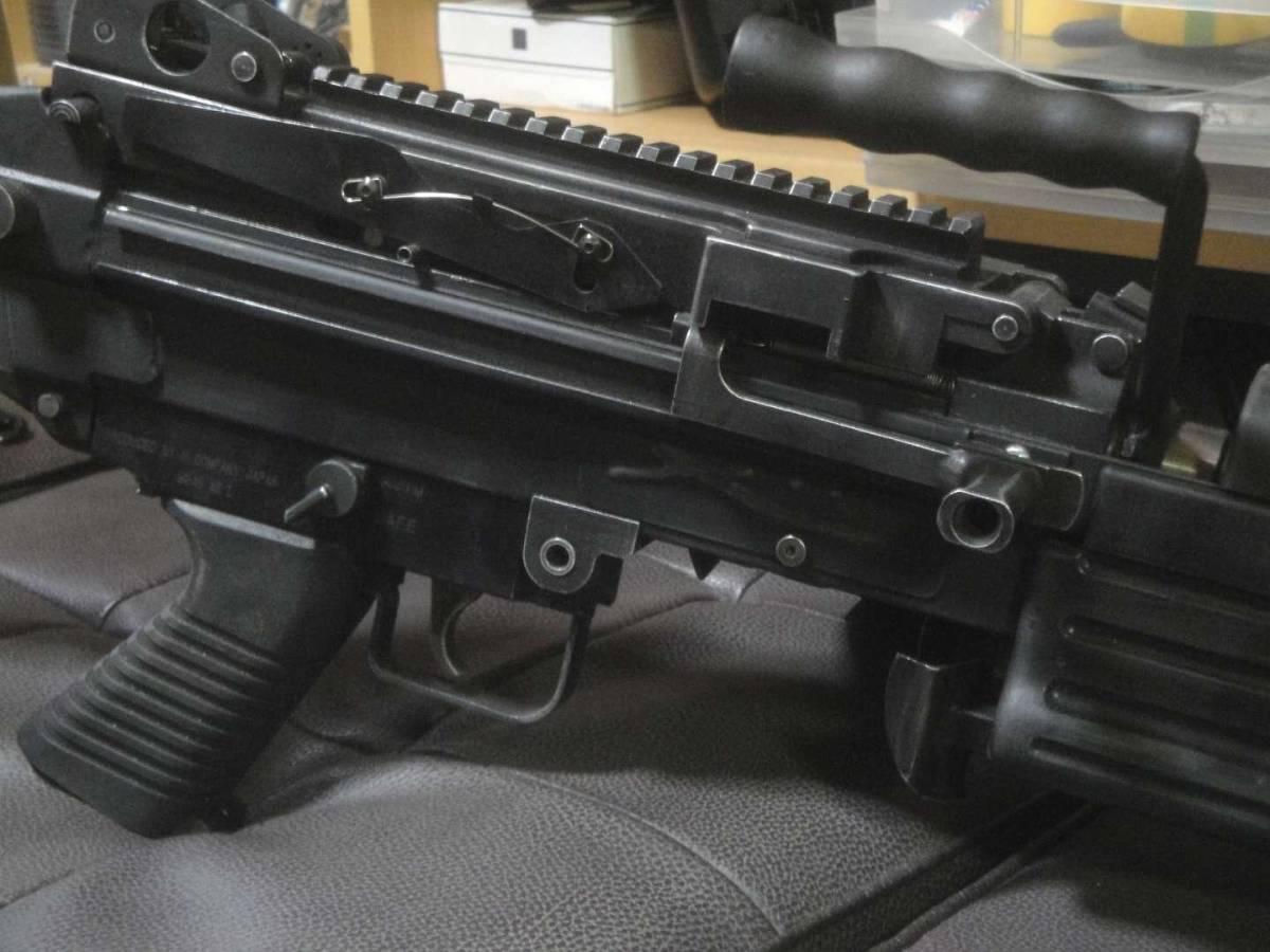 ガスブロ ミニミ M249 絶版! 希少! Gカンパニー製 調整済み 動作快調 専用マガジン2本付き 上級者向き minimi_画像6