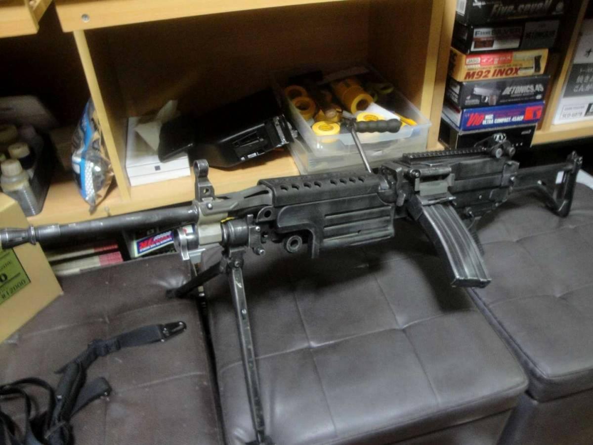 ガスブロ ミニミ M249 絶版! 希少! Gカンパニー製 調整済み 動作快調 専用マガジン2本付き 上級者向き minimi_画像8