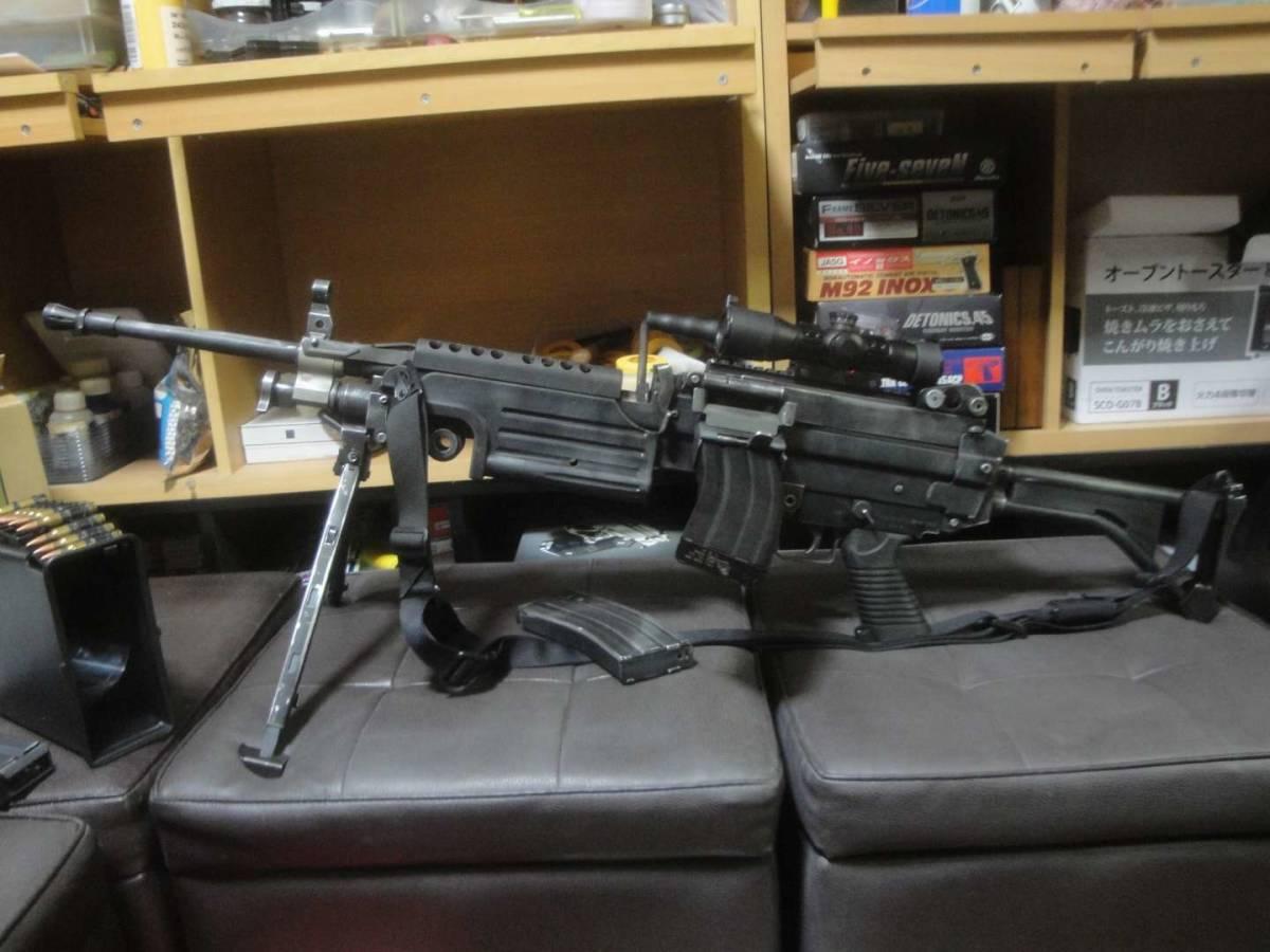 ガスブロ ミニミ M249 絶版! 希少! Gカンパニー製 調整済み 動作快調 専用マガジン2本付き 上級者向き minimi