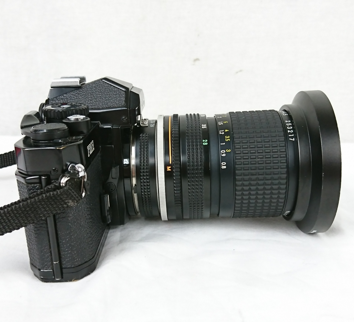 【GK-201】 Nikon ニコン カメラ FM2 レンズ Zoom-NIKKOR 28~85mm 1:3.5~4.5 黒色 black ブラックボディー N7763716 MFカメラ _画像4