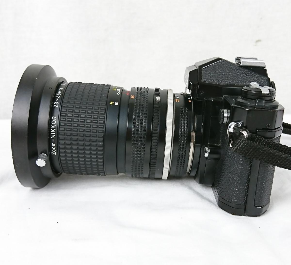 【GK-201】 Nikon ニコン カメラ FM2 レンズ Zoom-NIKKOR 28~85mm 1:3.5~4.5 黒色 black ブラックボディー N7763716 MFカメラ _画像5