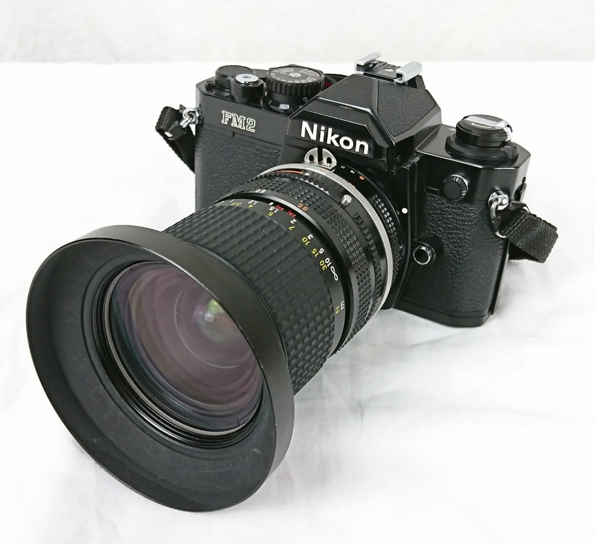 【GK-201】 Nikon ニコン カメラ FM2 レンズ Zoom-NIKKOR 28~85mm 1:3.5~4.5 黒色 black ブラックボディー N7763716 MFカメラ