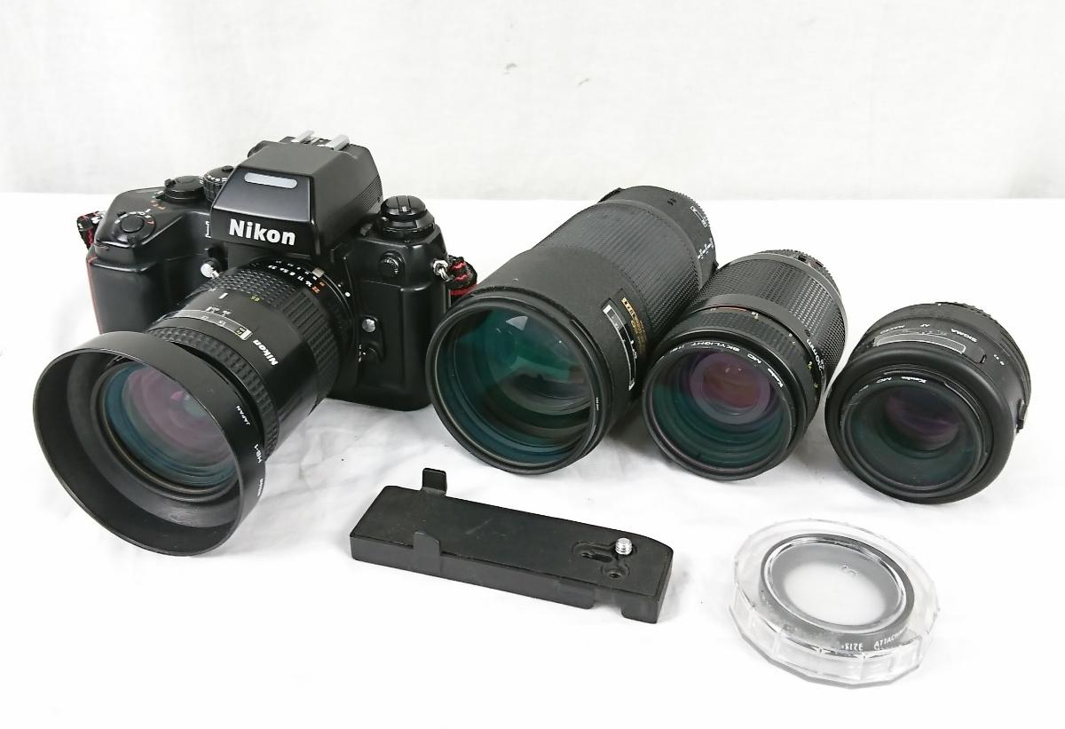 【GK-203】 Nikon ニコン カメラ F4 レンズ AF オートフォーカス Nikon ED AF NIKKOR 80-200mm AF NIKKOR 70-210mm NIKKOR 28-85mm