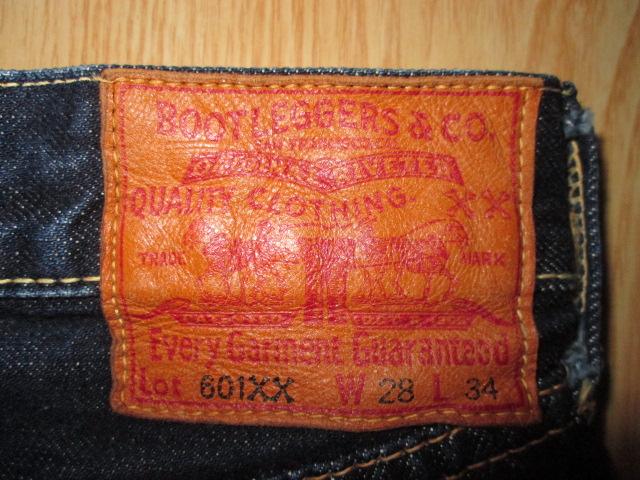 ブートレガーズ 601XX BOOTLEGGERS W28 フリーホイーラーズ FREEWHEELERS インディゴ デニム ジーンズ ジーパン パンツ ボトムス_画像10