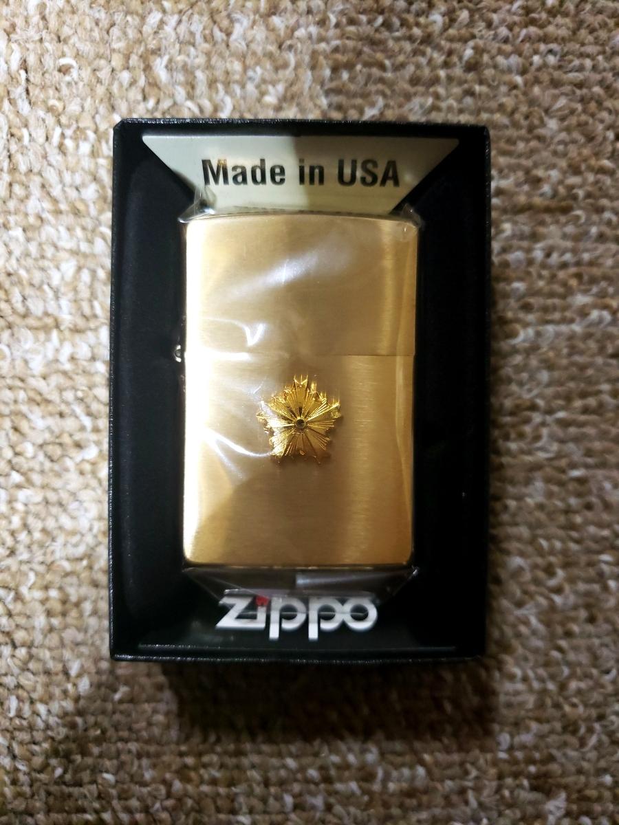 新品 警視庁 限定 ZIPPO ジッポー 未使用品 レア品 警察グッズ USA ゴールド 張り金_画像1