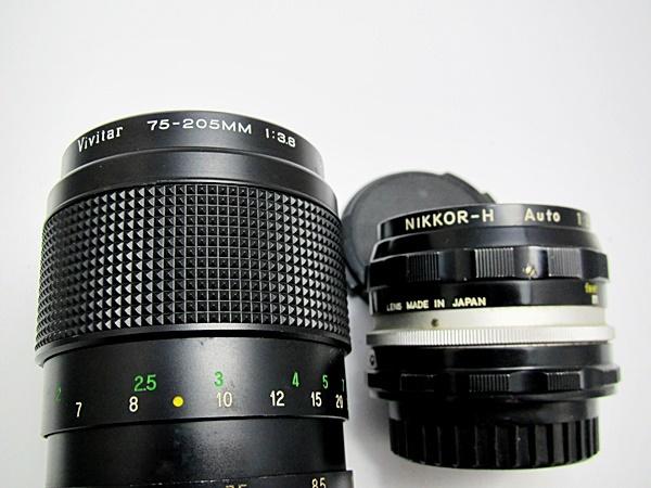 NIKON F ニコンF ボディ レンズ NIKKOR-H 1:3.5 F28mm / VAvitar 1:3.8 75-205mm ボディ レンズセット Y木_画像9