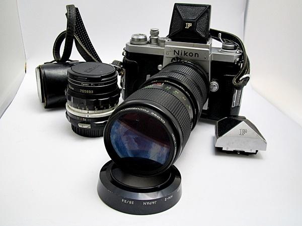 NIKON F ニコンF ボディ レンズ NIKKOR-H 1:3.5 F28mm / VAvitar 1:3.8 75-205mm ボディ レンズセット Y木