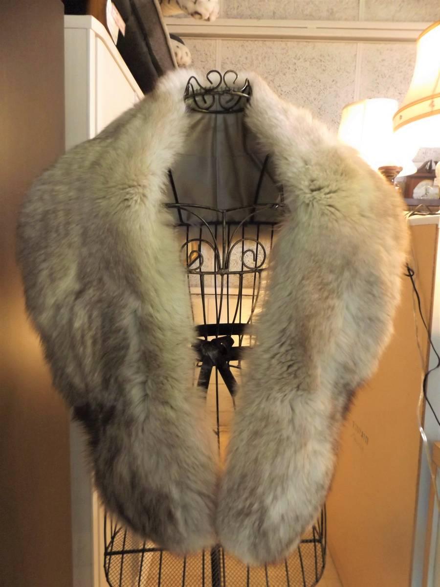 値下げ■毛皮の襟巻き■クリーム系 白に茶色の毛並み  フォックスファー ショール 着物/ドレス フォーマル_画像8