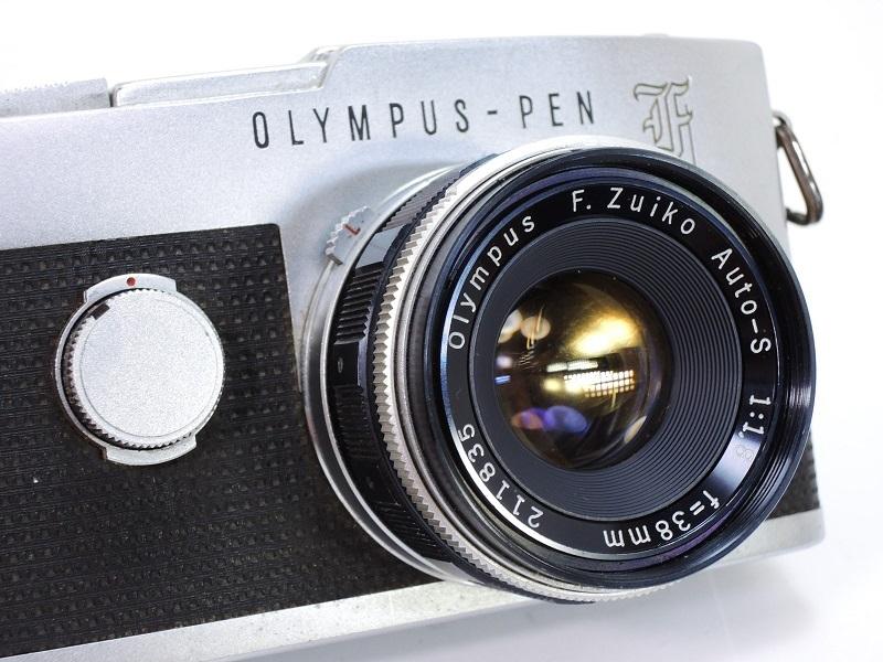 OLYMPUS PEN F オリンパスペン F.Zuiko Auto-S 38mm/f1.8 & E.Zuiko Auto-T 150mm/f4 純正キャップ付θ_画像2
