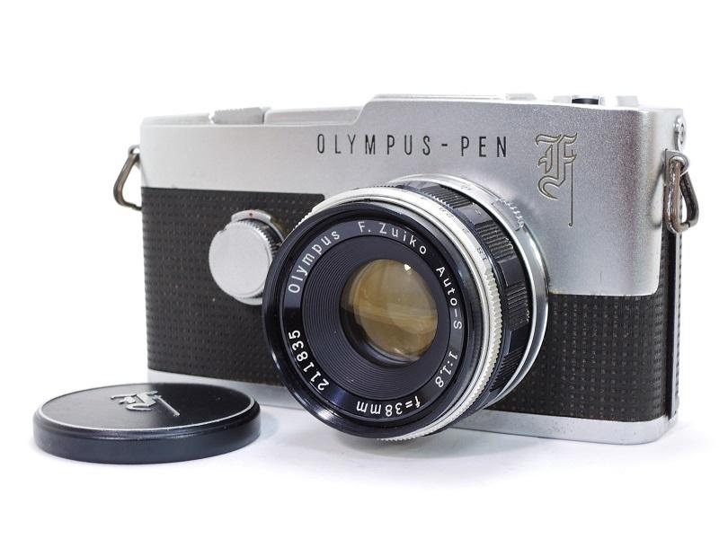 OLYMPUS PEN F オリンパスペン F.Zuiko Auto-S 38mm/f1.8 & E.Zuiko Auto-T 150mm/f4 純正キャップ付θ_画像3