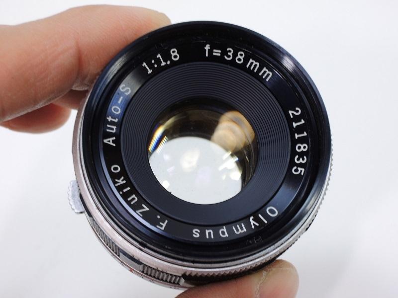 OLYMPUS PEN F オリンパスペン F.Zuiko Auto-S 38mm/f1.8 & E.Zuiko Auto-T 150mm/f4 純正キャップ付θ_画像6