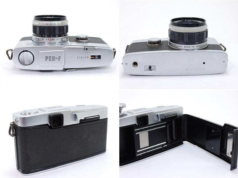 OLYMPUS PEN F オリンパスペン F.Zuiko Auto-S 38mm/f1.8 & E.Zuiko Auto-T 150mm/f4 純正キャップ付θ_画像4