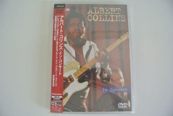 C/ アルバート・コリンズ・イン・コンサート 全盛期の貴重なライブ映像 直輸入盤 日本語解説付 ALBERT COLLINS in concert 未開封品