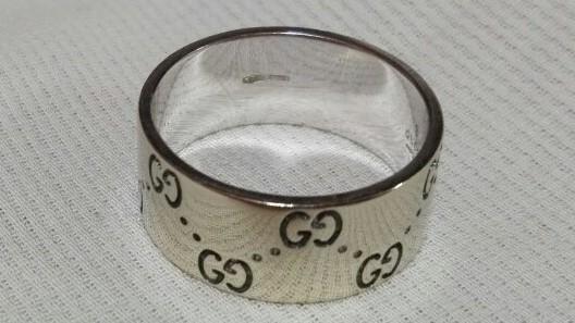 ジュエリー 新品仕上げ済 GUCCI グッチ アイコンリング ワイド GGリング 指輪 20号 #20 K18WG 750WG ホワイトゴールド 中古