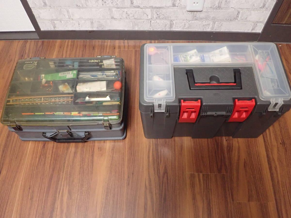 大型タックルボックス 2個(中古)、釣具多量_画像2