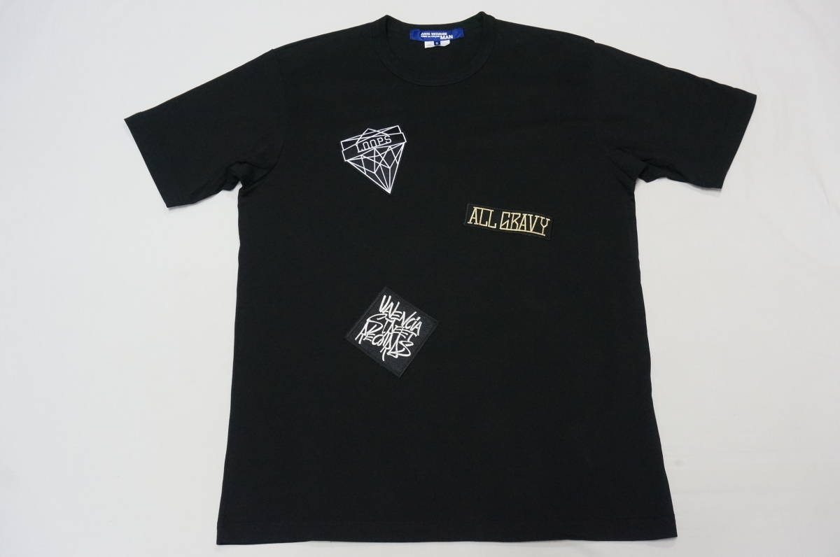 e5aff4e71cf5 代購代標第一品牌- 樂淘letao - JUNYA WATANABE COMME des GARCONS MAN /WT-T010☆17SS  ジュンヤワタナベコムデギャルソンマン綿天竺ワッペンアップリケTシャツ